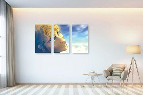 תמונה לבית - חנן אביסף - גבר על רקע של שמים כחולים - מק''ט: 52686