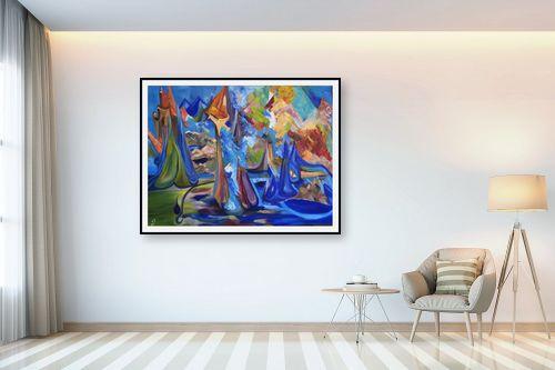 תמונה לבית - רינה יניב - the blue kingdom - מק''ט: 74397