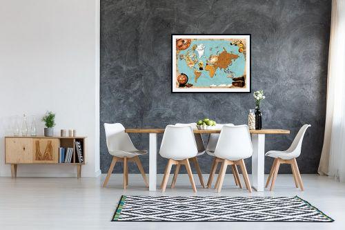 תמונה לבית - מפות העולם - Pirates map - מק''ט: 240814