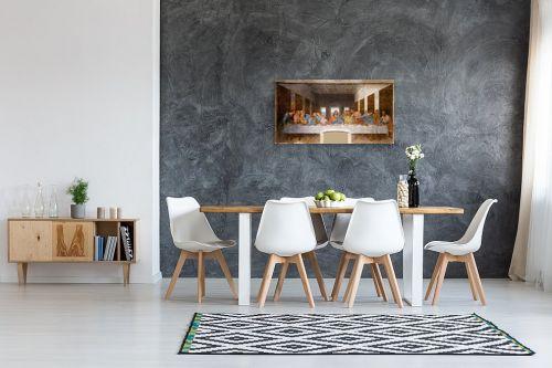 תמונה לבית - לאונרדו דה וינצי - הסעודה האחרונה Last Suppe - מק''ט: 303455