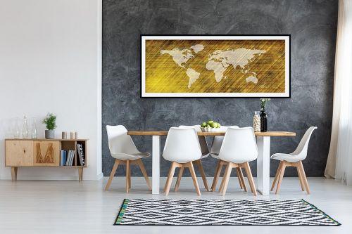 תמונה לבית - מפות העולם - מפת עולם מעוצבת - מק''ט: 333006