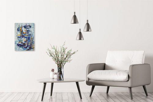 תמונה לבית - מרים קופפרשטיך - נוף כחול - מק''ט: 138779