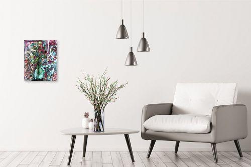 תמונה לבית - בן רוטמן - פרחים באגרטל זכוכית - מק''ט: 158308