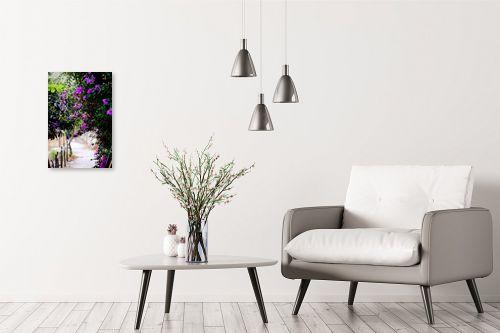תמונה לבית - ויויאן נתן - סימטה  עם פרחים - מק''ט: 293019