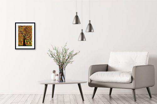 תמונה לבית - אסתר חן-ברזילי - עץ מסולסל - מק''ט: 317250