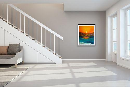 תמונה לחדר מדרגות - אסתר חן-ברזילי - זריחה - מק''ט: 105587