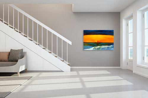 תמונה לחדר מדרגות - אסתר חן-ברזילי - שקיעה - מק''ט: 106629
