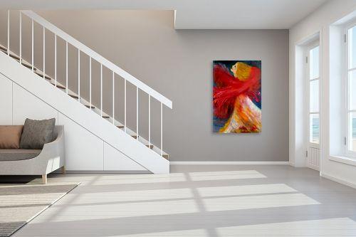 תמונה לחדר מדרגות - אסתר חן-ברזילי - ריקוד האש - מק''ט: 106866