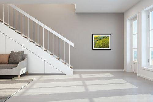 תמונה לחדר מדרגות - וינסנט ואן גוך -  green wheat fields - מק''ט: 115565