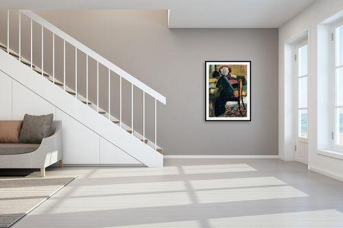 תמונה לחדר מדרגות - אוגוסט מקה - August Macke 098 - מק''ט: 115681