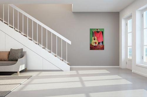 תמונה לחדר מדרגות - אסתר חן-ברזילי - גיטרה ספרדית - מק''ט: 120063