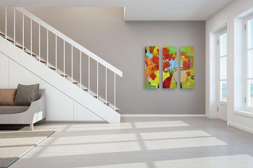 תמונה לחדר מדרגות - נטליה ברברניק - האדום בולט - מק''ט: 122167