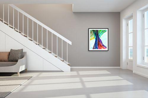 תמונה לחדר מדרגות - אסתר חן-ברזילי - הבה נרקוד - מק''ט: 122625
