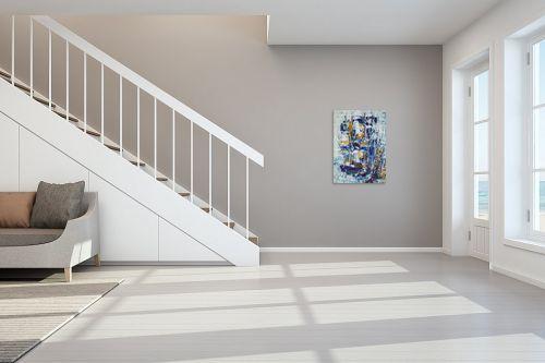 תמונה לחדר מדרגות - מרים קופפרשטיך - נוף כחול - מק''ט: 138779