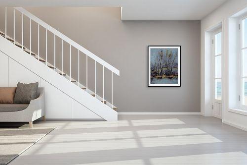 תמונה לחדר מדרגות - מרים קופפרשטיך - נוף עם זהב - מק''ט: 139176