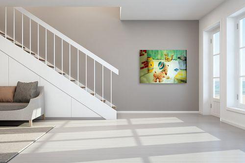 תמונה לחדר מדרגות - דוד סלע - ציור קיר - מק''ט: 140730