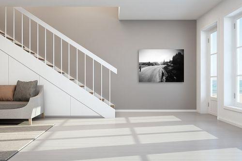 תמונה לחדר מדרגות - דוד לסלו סקלי - צומת נווה אילן 1948 - מק''ט: 144462
