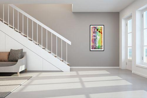 תמונה לחדר מדרגות - בן רוטמן - רוח לבנה וכובע לבן - מק''ט: 144991