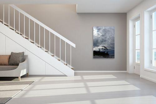 תמונה לחדר מדרגות - אסי סיני - אפור ומרגיע - מק''ט: 145218