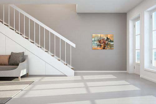תמונה לחדר מדרגות - בן רוטמן - צללית של עיר בנהר - מק''ט: 149041