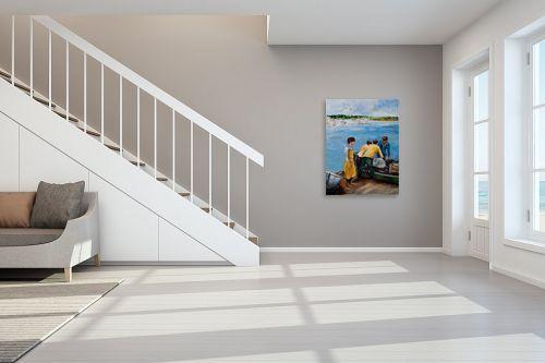 תמונה לחדר מדרגות - שולי חיימזון - דייגים - מק''ט: 158338