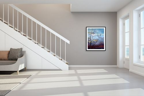 תמונה לחדר מדרגות - חגי עמנואל - דולב בשקיעה - מק''ט: 163606