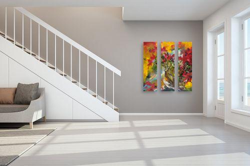 תמונה לחדר מדרגות - חגי עמנואל - שקוף - כלניות - מק''ט: 164014