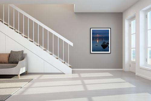 תמונה לחדר מדרגות - איה אפשטיין - ירח כנרת ואבן - מק''ט: 164769