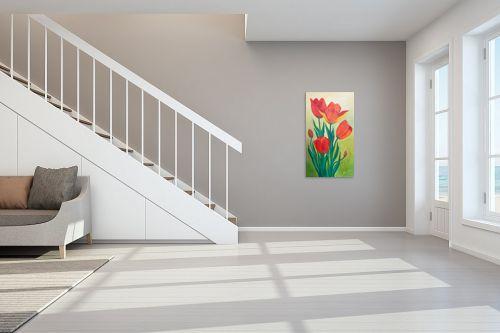 תמונה לחדר מדרגות - רינה יניב - צבעונים - מק''ט: 168966
