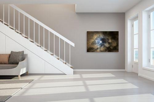 תמונה לחדר מדרגות - איה אפשטיין - ירח מלא בעננים - מק''ט: 174843