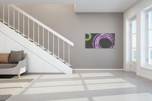 תמונה לחדר מדרגות - נעמי עיצובים - עיגול בסגול אפור - מק''ט: 189079