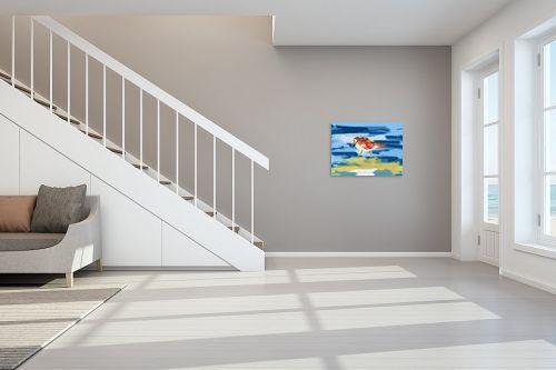 תמונה לחדר מדרגות - ענת אומנסקי - מנוחת הציפור  - מק''ט: 192538