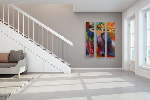 תמונה לחדר מדרגות - אסתר חן-ברזילי - רקדנים - מק''ט: 197614