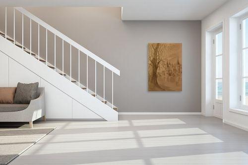 תמונה לחדר מדרגות - עדי גולדברג - השתקפות במים - מק''ט: 19997