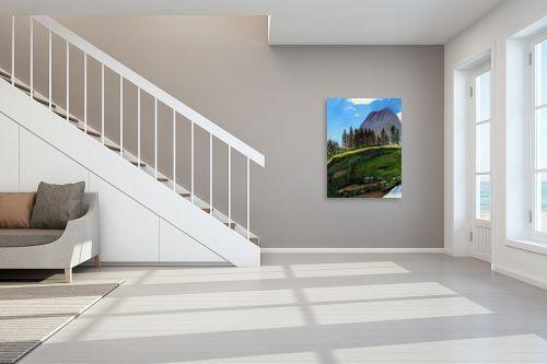 תמונה לחדר מדרגות - חנה כרמי - נוף הרים - מק''ט: 202312