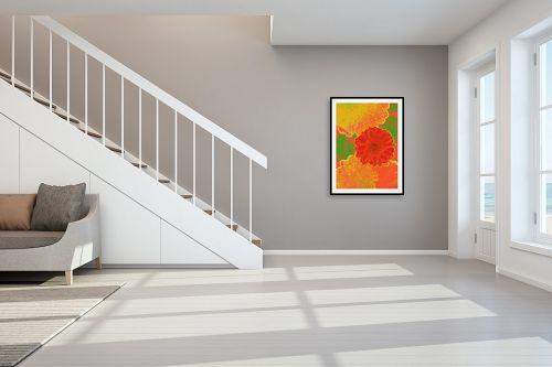 תמונה לחדר מדרגות - רוזה לשצ'ינסקי - פרח אדום - מק''ט: 204266