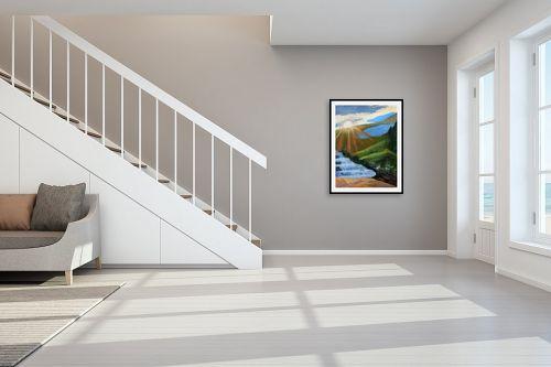 תמונה לחדר מדרגות - חנה כרמי - הזריחה - מק''ט: 206117