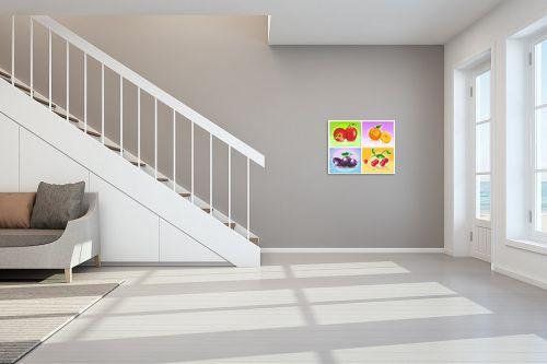 תמונה לחדר מדרגות - ויקטוריה רייגירה - פירות העונה - מק''ט: 208141