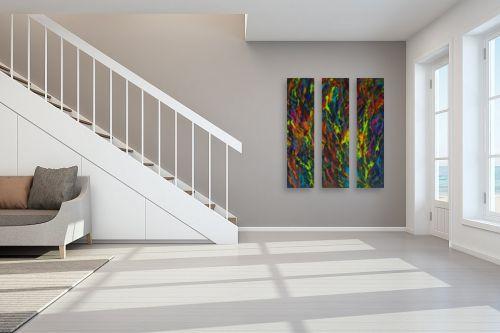 תמונה לחדר מדרגות - אסתר חן-ברזילי - מחול הצבעים - מק''ט: 211804