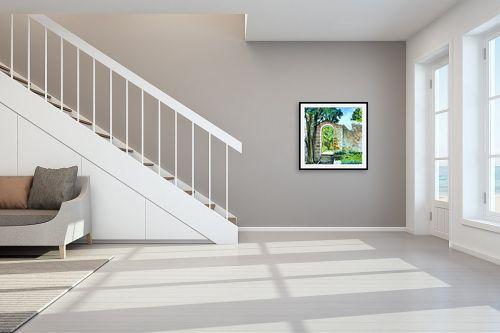 תמונה לחדר מדרגות - חיה וייט - כניסה לגן - מק''ט: 213116