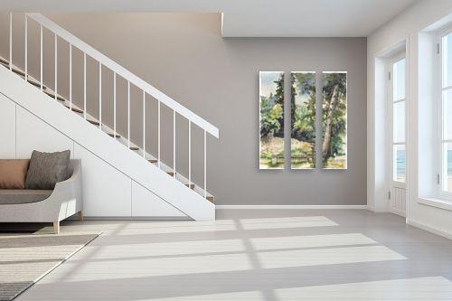 תמונה לחדר מדרגות - חיה וייט - ספסל בואדי - מק''ט: 213192