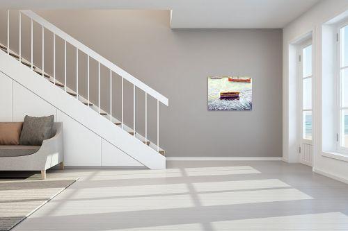 תמונה לחדר מדרגות - חיה וייט - סירות דייגים - מק''ט: 213274
