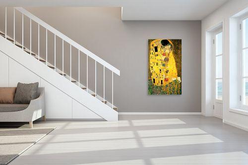 תמונה לחדר מדרגות - גוסטב קלימט - The kiss הנשיקה - מק''ט: 226224