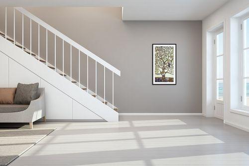 תמונה לחדר מדרגות - גוסטב קלימט - עץ החיים Tree of life - מק''ט: 226229