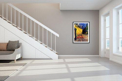 תמונה לחדר מדרגות - וינסנט ואן גוך - מרפסת בית הקפה  - מק''ט: 226275