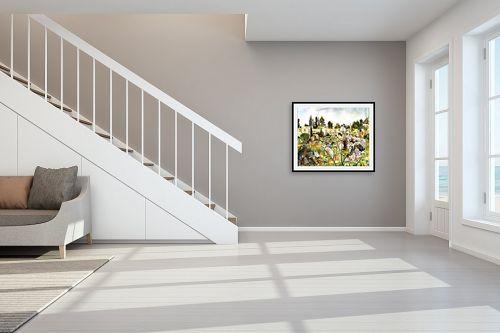 תמונה לחדר מדרגות - חיה וייט - פריחה בבוסתן - מק''ט: 229870