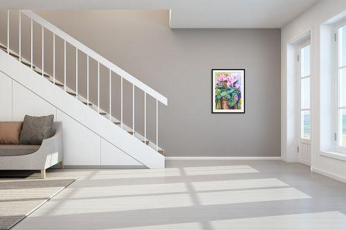 תמונה לחדר מדרגות - חיה וייט - רקפות בעציץ - מק''ט: 229871