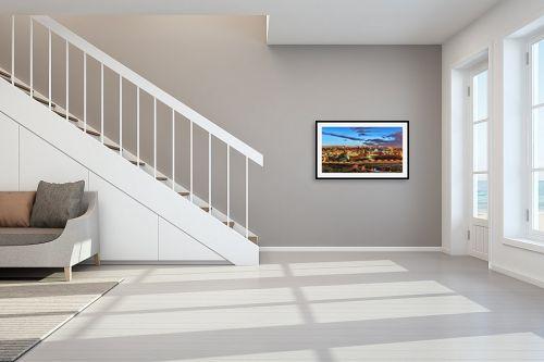 תמונה לחדר מדרגות - מיכאל שמידט - ירושלים בזהב - מק''ט: 236410