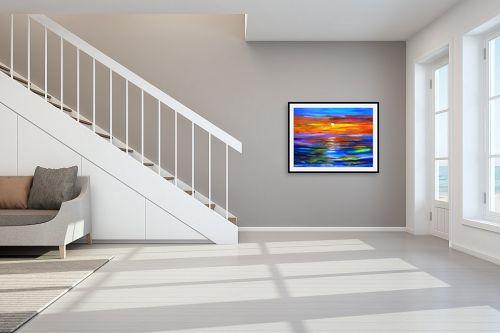 תמונה לחדר מדרגות - אסתר חן-ברזילי - זוהר השקיעה - מק''ט: 249508