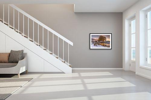 תמונה לחדר מדרגות - מיכאל שמידט - לבן וקסום - מק''ט: 250998